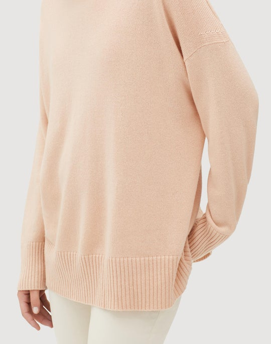Cashmere Relaxed Turtleneck Sweater