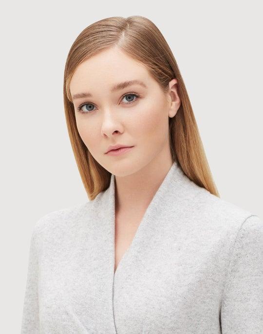 Plus-Size Cashmere Asymmetrical Sweater