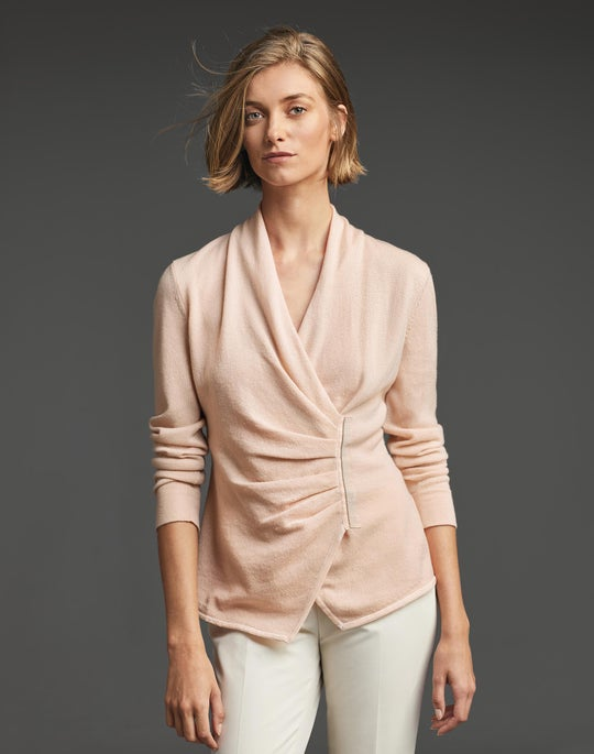 Cashmere Asymmetric Sweater and Stanton Pant