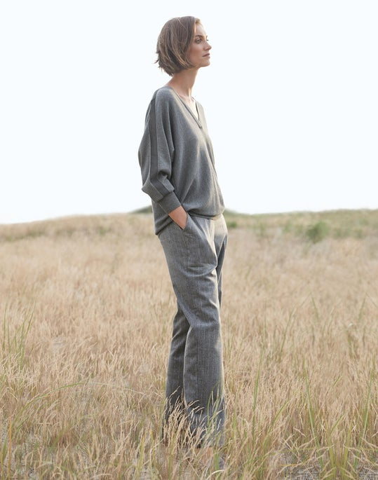 Dolman V-Neck Sweater and Fulton Pant