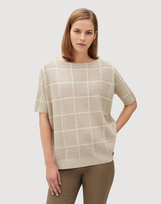 Fine Gauge Merino Embellished Oversized Jacquard Sweater