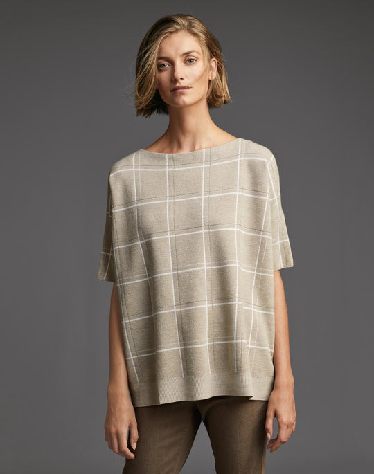 Embellished Jacquard Sweater and Mercer Jean