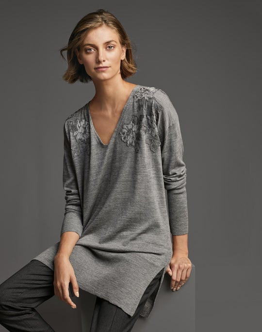 Embellished V-Neck Sweater and Stanton Pant