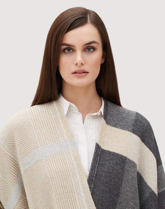 Cozy Flannel Plaid Patchwork Wrap