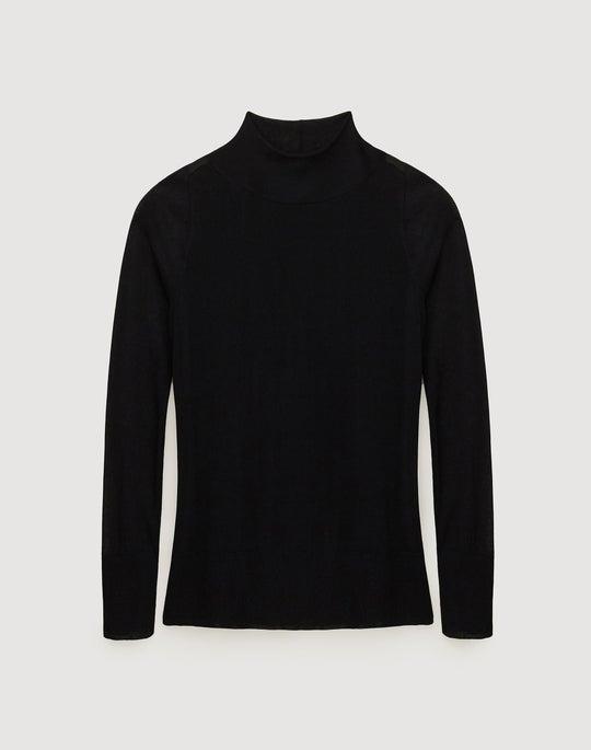 Finespun Voile Mockneck Sweater