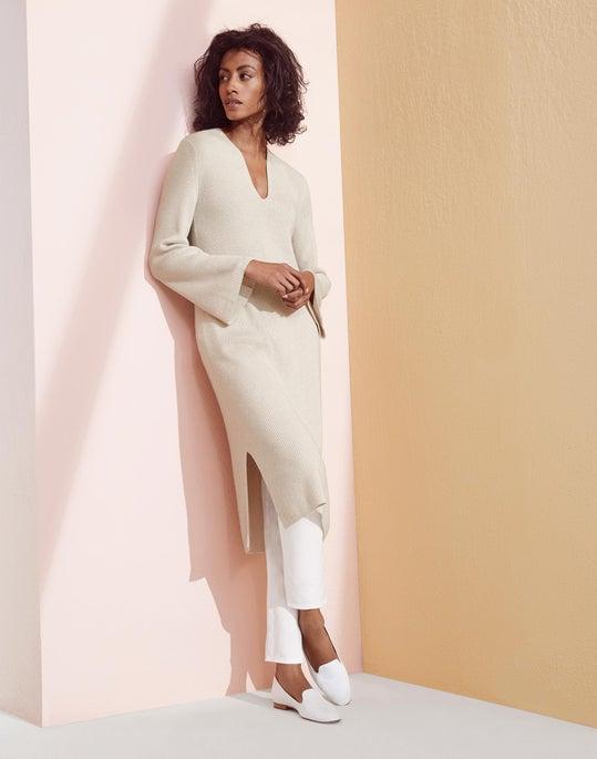 Cashmere Rib Sweater Dress and Gansevoort Legging