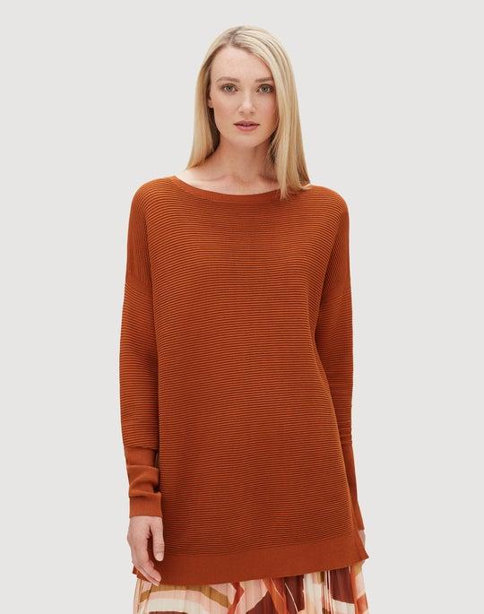 Plus-Size Matte Crepe Wide Neck Tunic