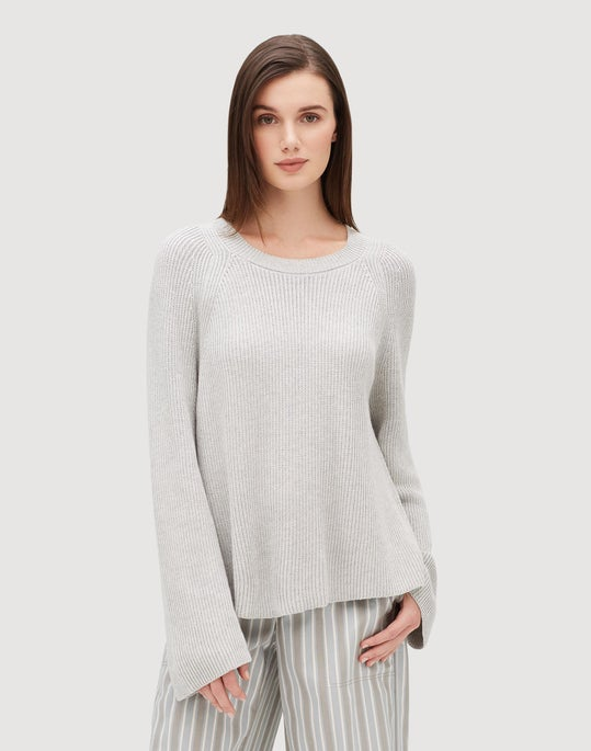 Cotton Silk Tape Open Sided Pullover