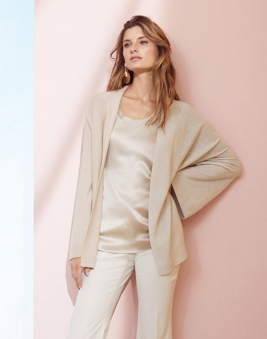 Cashmere Kimono Cardigan and Cropped Manhattan Pant