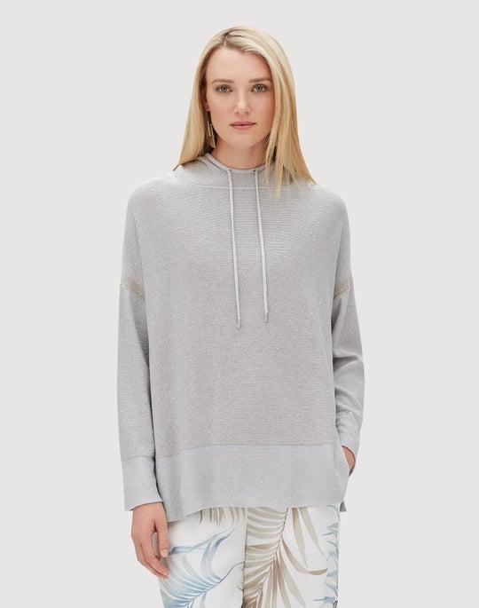 Sequin Silk Luxe Hoodie