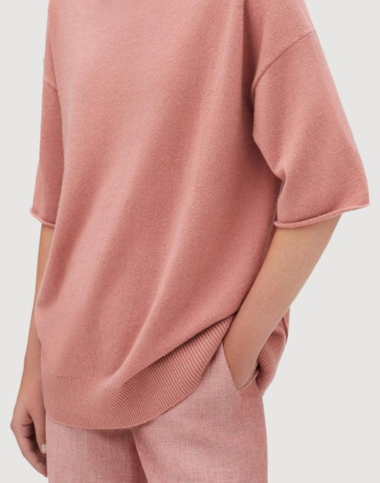 Petite Cashmere Relaxed Pullover