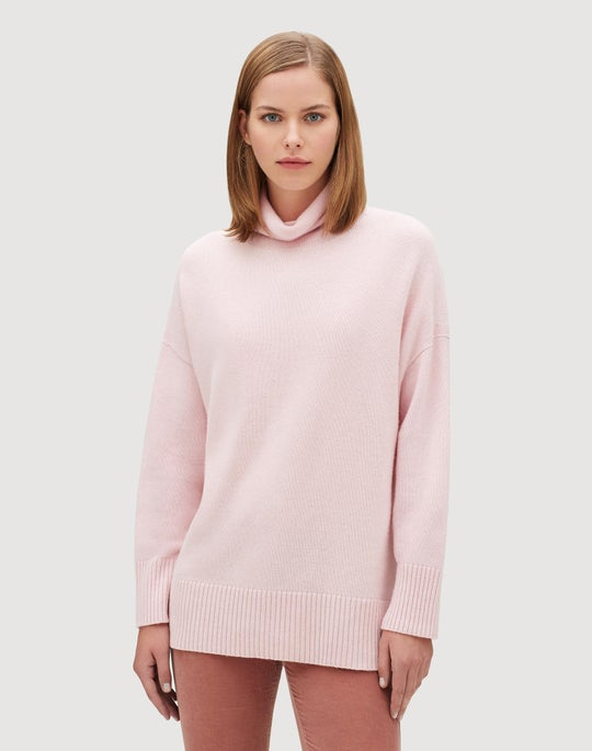 Plus-Size Cashmere Relaxed Long Sleeve Pullover