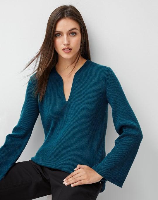 Cashmere Rib Tunic Sweater and Columbus Pant
