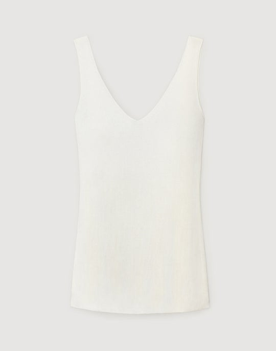 Fluid Viscose Fitted Sweater Tank