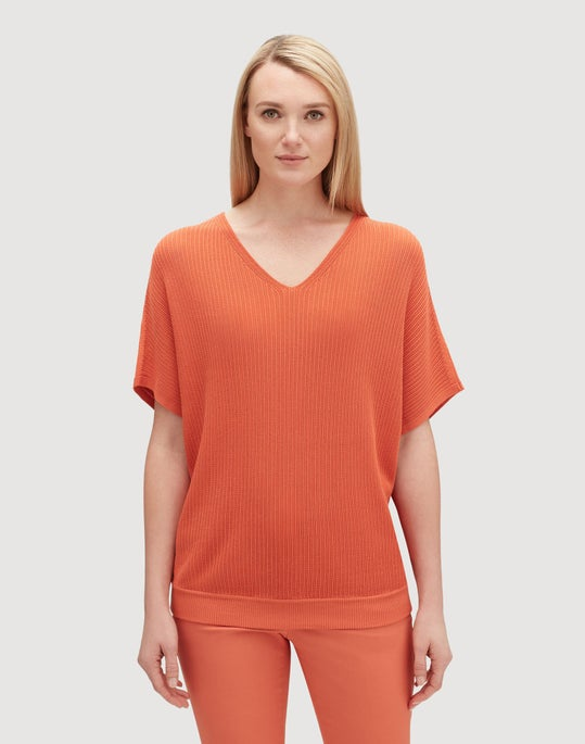 Petite Matte Crepe Relaxed Dolman Pullover