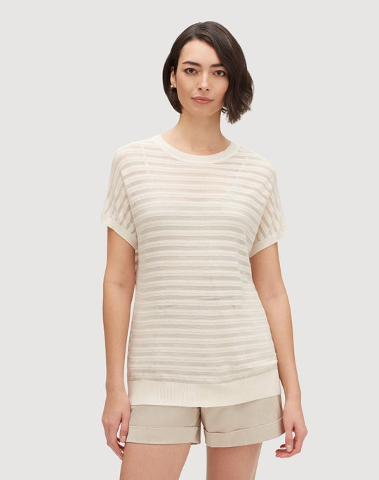 Finespun Voile Relaxed Semi-Sheer Dolman Sweater