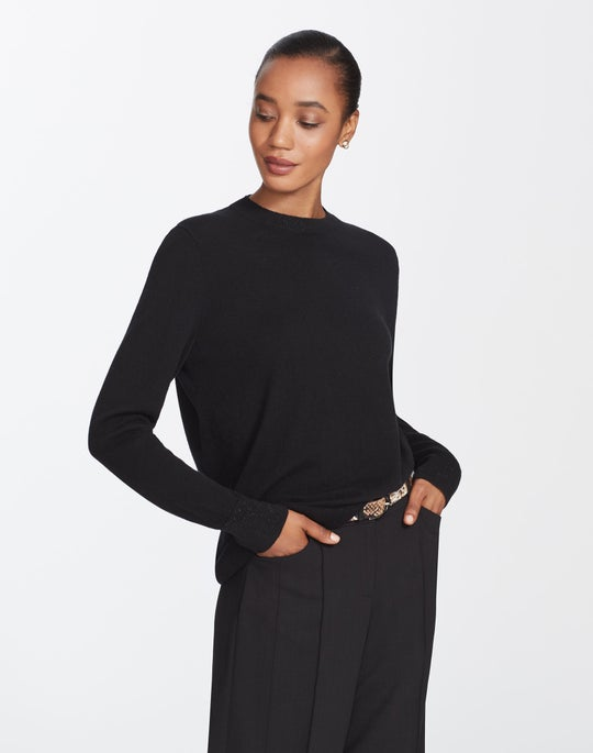 Plus-Size Cashmere Crewneck Sweater