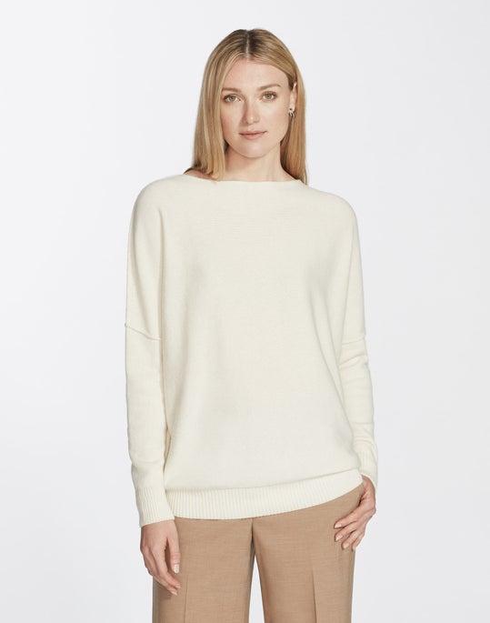 Plus-Size Cashmere Bateau Neck Sweater