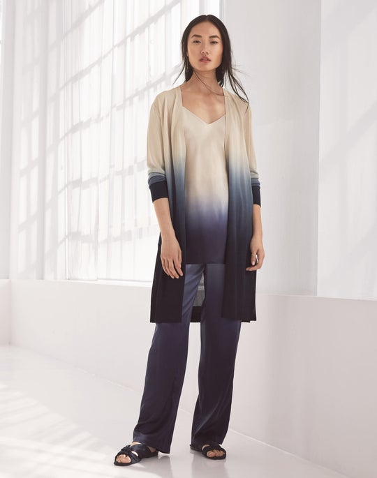 Open Front Dip-Dye Cardigan and Myrtle Pant