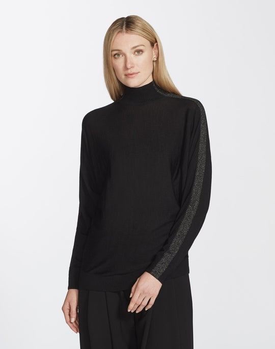 Plus-Size Fine Gauge Merino Dolman Sweater