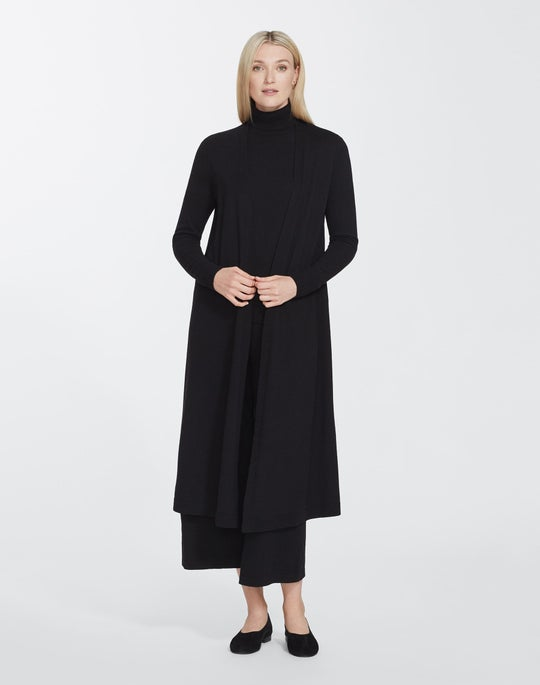 Plus-Size Cashmerino Long Open Front Cardigan