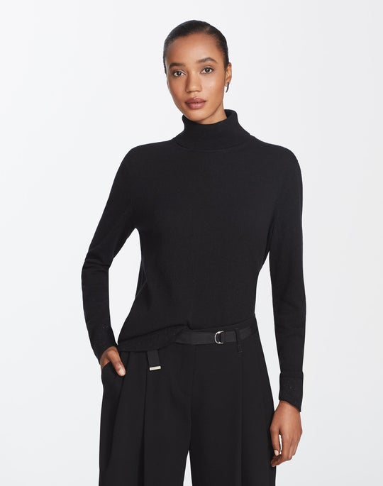 Plus-Size Cashmere Turtleneck Sweater