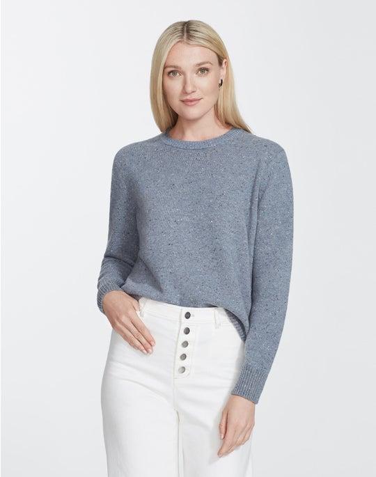 Donegal Wool Vanisé Crewneck Sweater