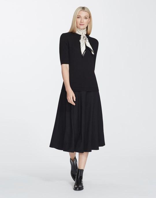 Plus-Size Cashmerino Flannel Skirt Sweaterdress