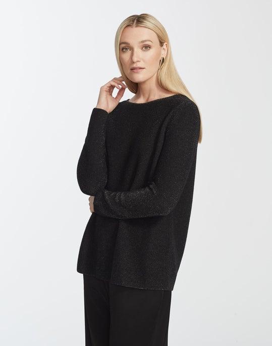 Cashmere Bateau Neck Pullover