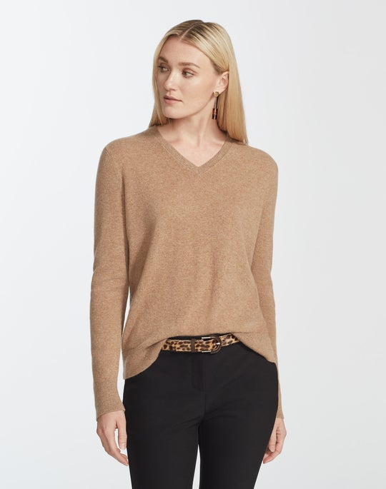 Cashmere V Neck Sweater by Lafayette 148 New York