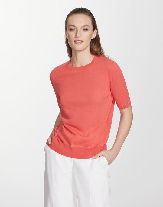 Cotton Crepe Yarn Crewneck T-Shirt