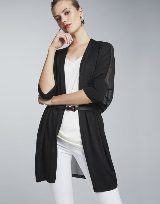 Open Front Cardigan and Manhattan Pant