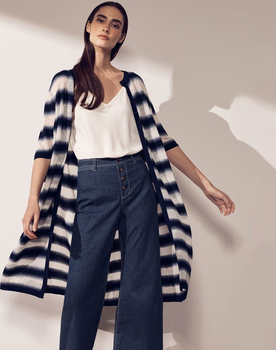 Button Front Duster and Clark Ankle Pant