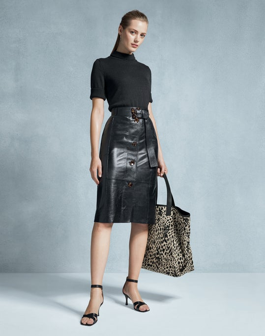 Cropped Mock Neck Sweater and Avalon Skirt