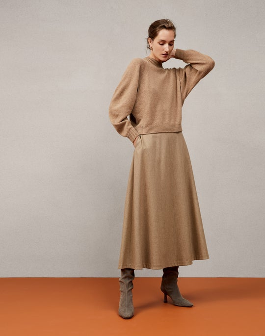 Cashmere Pullover and Sumner Skirt