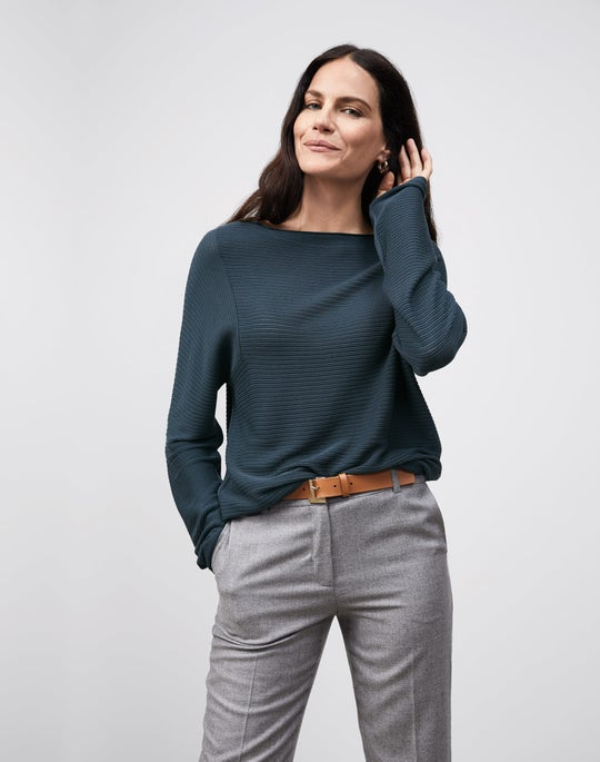 Bateau Neck Sweater and Clinton Ankle Pant