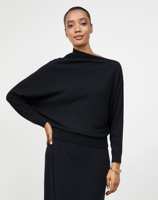 Cashmere Draped Collar Sweater