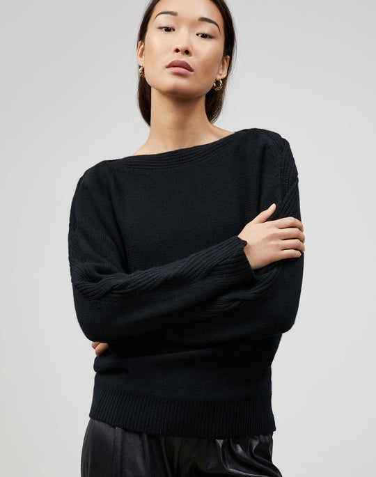 Cashmere Braided Cable Sweater