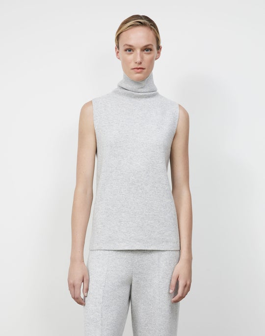 Cashmere Double Knit Sleeveless Sweater