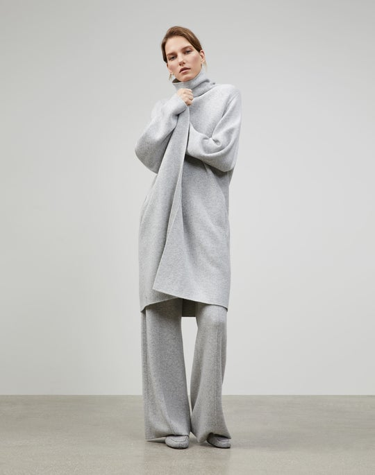 Cashmere Double Knit Cardigan Coat