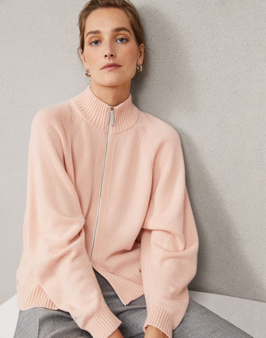 Round Sleeve Zip Front Cardigan and Clinton Pant