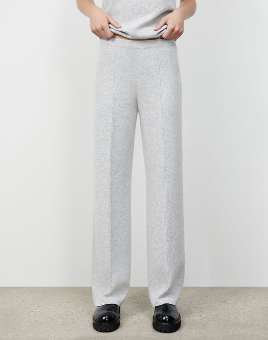 Cashmere Double Knit Pull-On Pant