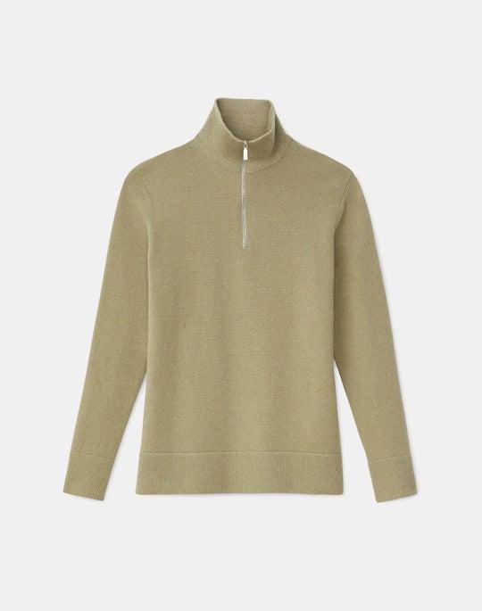 Plus-Size Cashmerino Half Zip Turtleneck Sweater