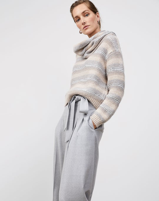 Striped Pullover and Tillary Wide Leg Pant