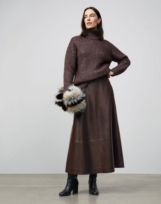 Chunky Stitch Turtleneck Sweater and Sumner Skirt