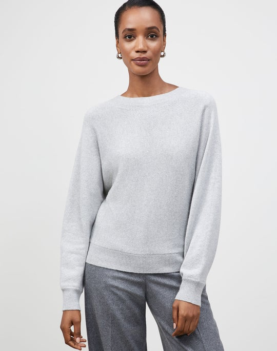 Plus-Size KindCashmere Chine Dolman Tie-Back Sweater