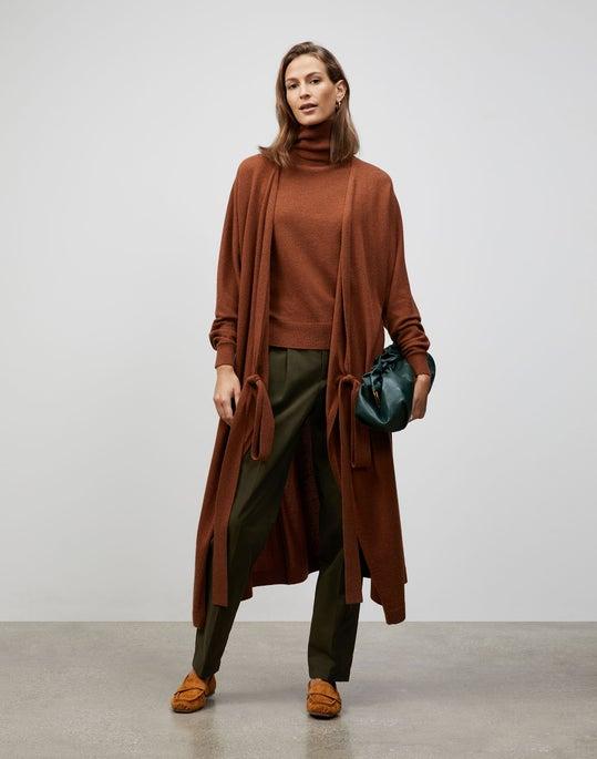 Plus-Size KindCashmere Dolman Sleeve Wrap Cardigan Dress