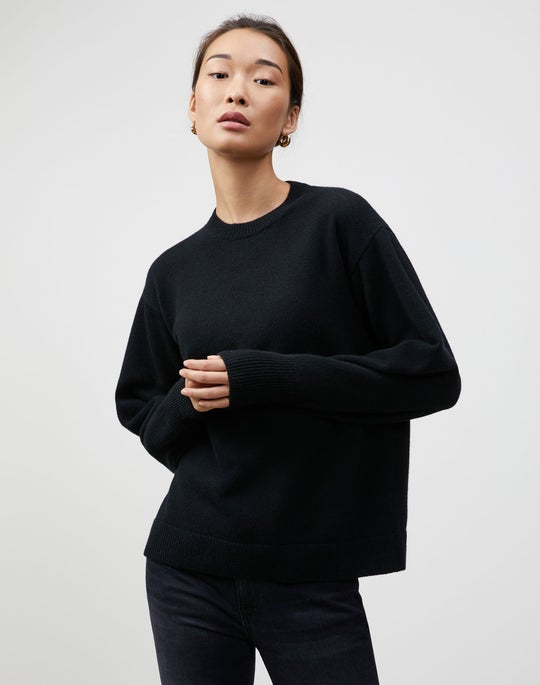 KindCashmere Blouson Sleeve Crewneck Sweater
