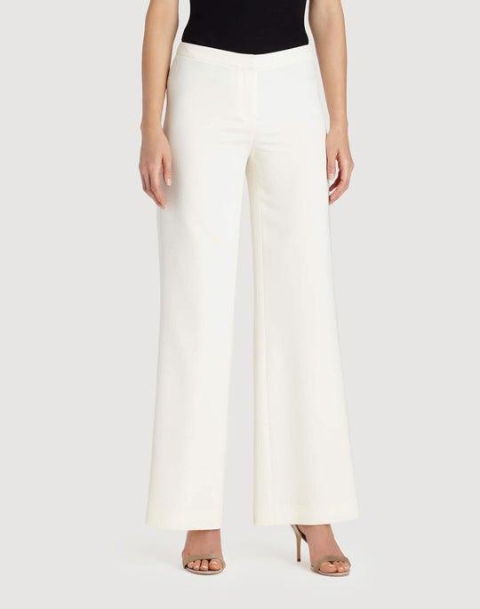 Plus-Size Luxe Stretch Crepe De Chine Front Zip Pant