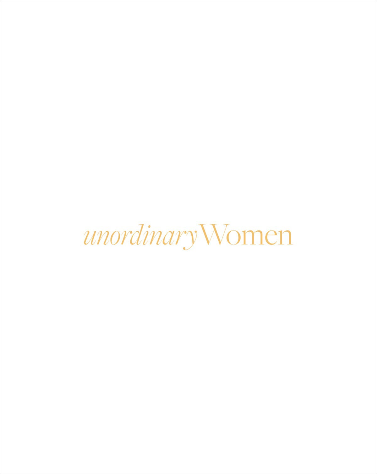 Unordinary Women Book